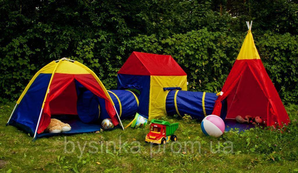 Детская игровая большая палатка 5в1