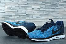 Кроссовки мужские Nike Zoom синие топ реплика , фото 2