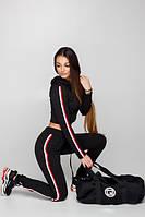 Женский Спортивный костюм с лампасами Марианна Новинка Весна 2018 (черный, серый, хаки), фото 1