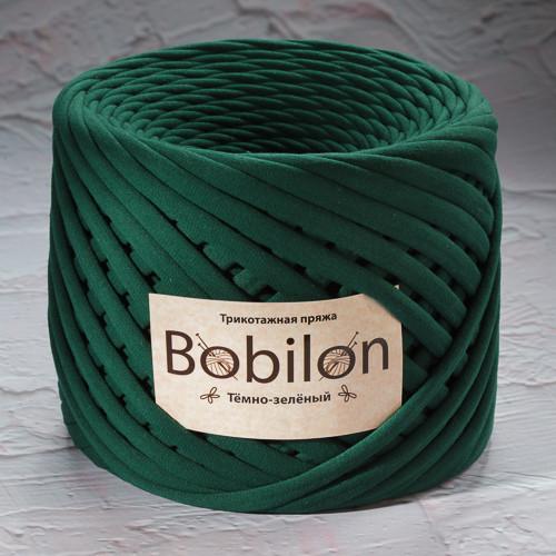 Трикотажная пряжа Bobilon Medium (7-9мм). Темно-зеленый
