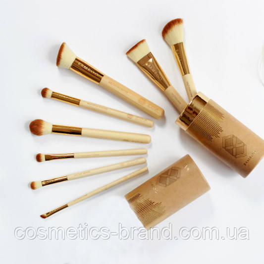 Кисті Zoeva Bamboo в тубусі (8 предметів) (репліка)