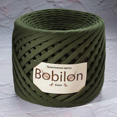 Трикотажная пряжа Bobilon Micro (3-5мм).  Хаки