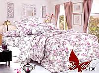 САТИН Семейный комплект постельного белья с компаньоном ТМ TAG  S136