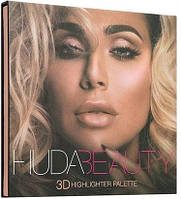 Румяна и бронзатор Huda Beauty 3D Highlight Palette Pink Sand (реплика)