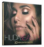 Румяна и бронзатор Huda Beauty 3D Highlight Palette Golden Sand (реплика)