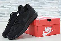Кроссовки мужские Nike Zoom черные топ реплика , фото 3