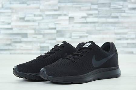 Кроссовки мужские Nike Zoom черные топ реплика , фото 2