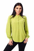 Изысканная женская блуза с жемчугом