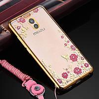 Чехол со стразами Meizu M6 Note Goldy (Мейзу М6 Ноут Ноте)