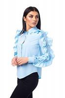 Стильная женская блуза с рюшами