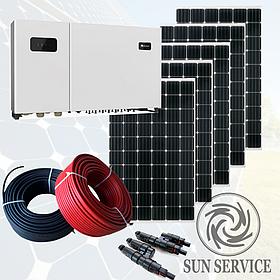 """Сонячна електростанція 30kW під """"Зелений тариф"""", комплект преміум"""