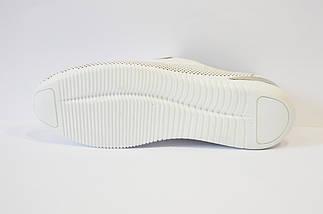 Слипоны белые кожаные Molly Bessa 03433, фото 2