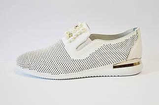 Слипоны белые кожаные Molly Bessa 03433, фото 3