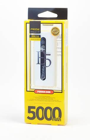 Power Bank Proda E5 Power Box 5000 mAh white, фото 2