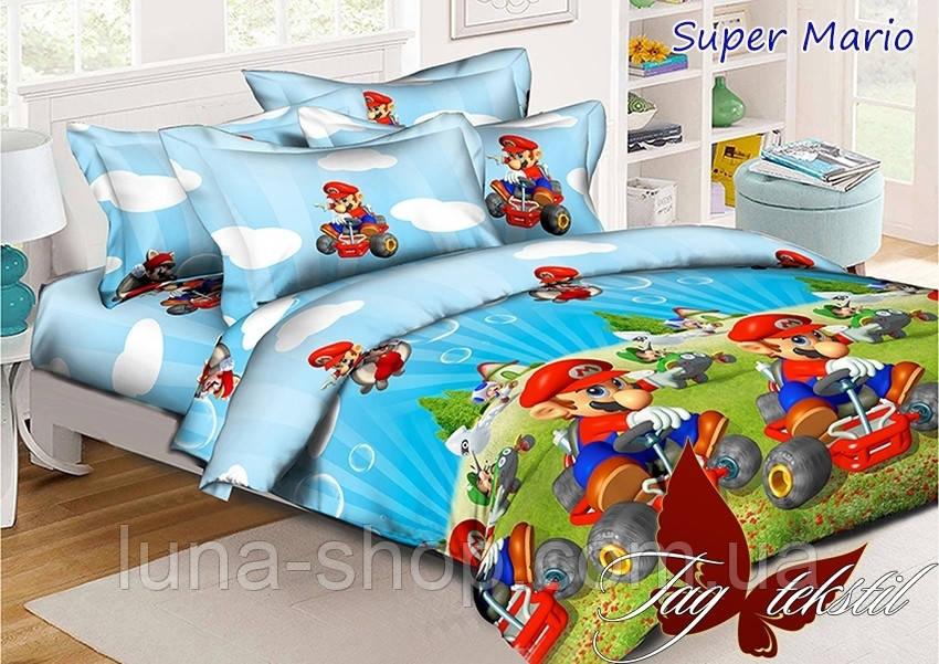 Детский полуторный комплект Марио, ранфорс (хлопок 100%)