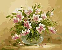 Картина-раскраска Menglei Цветочная нежность худ. Пинторе, Фасани (KH1064) 40 х 50 см