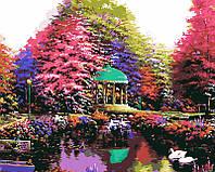 Картина-раскраска Menglei Лебеди на пруду худ. Хансен, Дерк (MG1097) 40 х 50 см