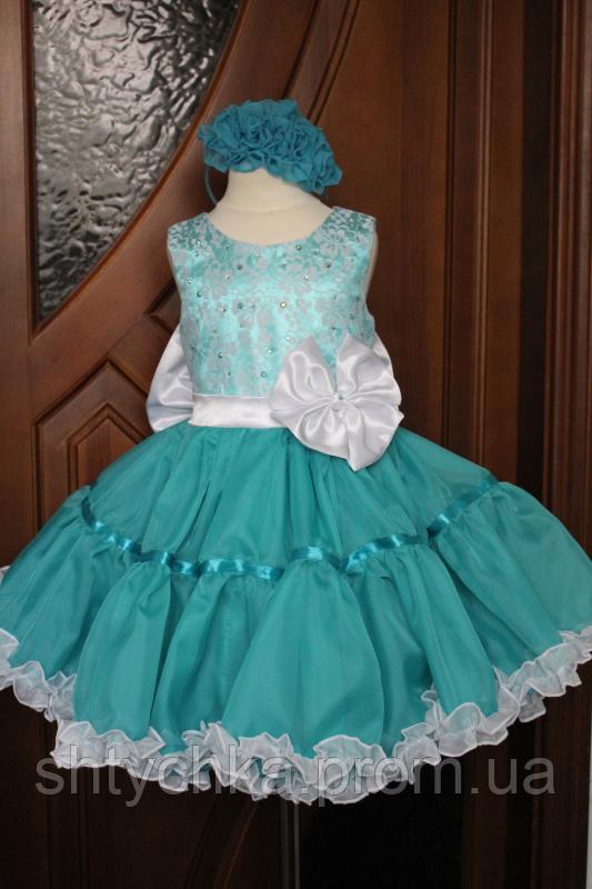 """Нарядное платье на девочку """"Ельза"""""""