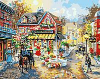 Картина-раскраска Menglei Уютные улочки худ. Боэм, Ники (MG1112) 40 х 50 см