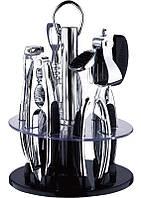 Набор кухонный Renberg Barset на подставке 6 предметов (оцинкованные)