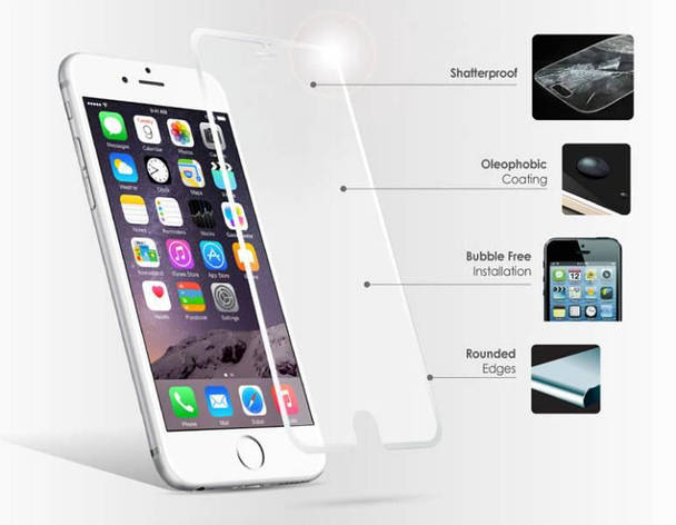 Стекло Tempered Glass for iPhone 6 без упак., фото 2