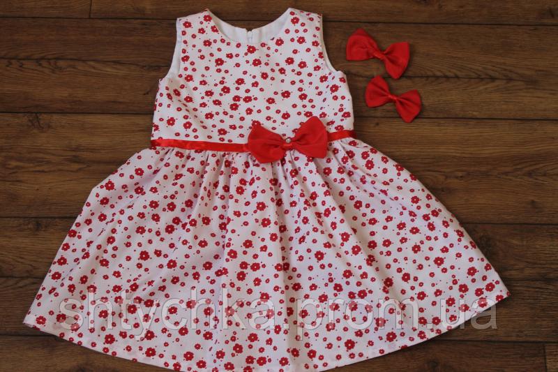 """Платье на девочку """"Красный цветочек"""""""