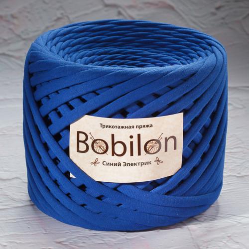 Ленточная пряжа Bobilon Maxi (9-11мм). Синий электрик