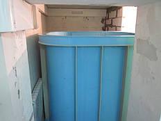 Изготовление купели по месту  в подвальном помещении