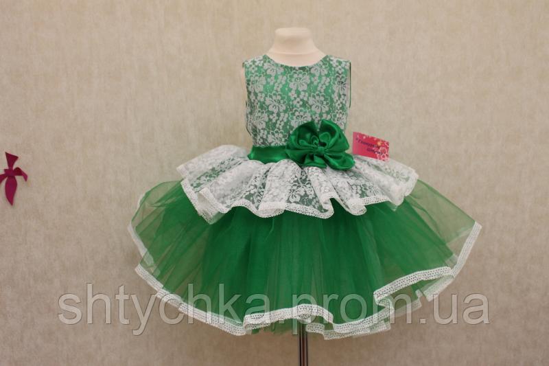 """Нарядное платье """"Зеленая карамелька"""""""