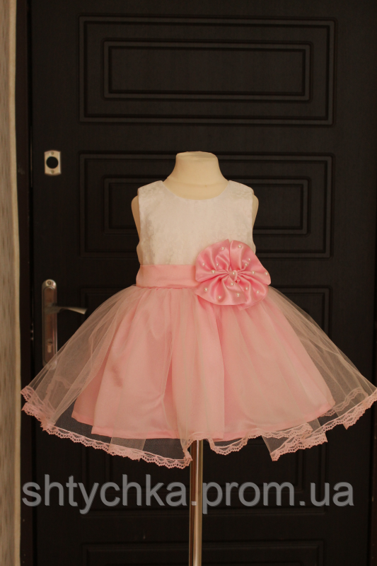 """Нарядное платье """"Кружевная сказка"""" в розовом цвете"""