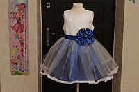 """Нарядное платье """"Кружевная сказка"""" в синем цвете"""