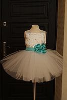 """Нарядное платье """"Мятная бусинка"""""""