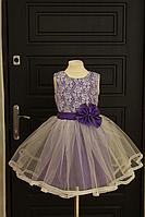 """Пышное нарядное платье """"Ванесса! в фиолетовом цвете"""