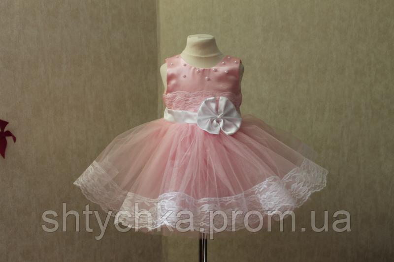 """Пышное нарядное платье """"Матиола"""" в розовом цвете"""