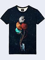 Футболка 3D Космонавт з кульками