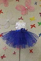 """Нарядное платье """"Гламурная синяя бусинка"""""""