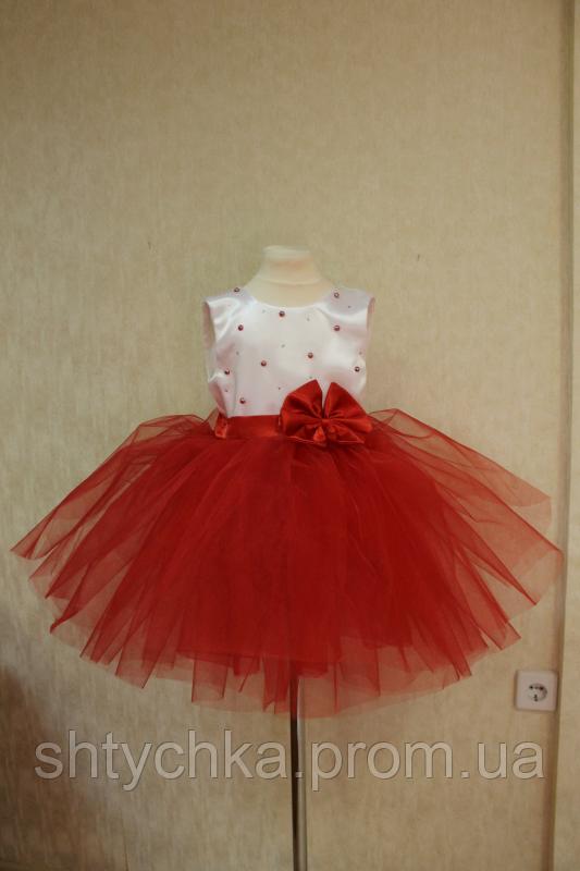 """Нарядное платье """"Гламурная красная бусинка"""""""