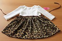 """Повседневно - нарядное платье на девочку """" Леопардовое настроение"""""""