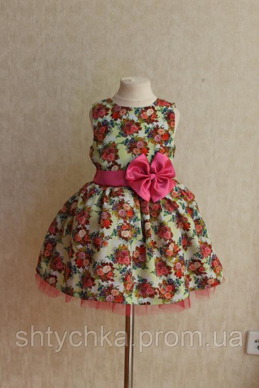 """Пышное нарядное платье """"Яркий праздник"""" на светлом фоне"""
