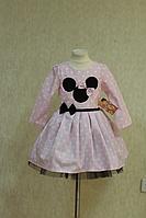 "Нарядное платье ""Минни маус"" на светло розовом фоне"