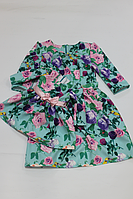 """Повседневно - нарядные платья на маму и доченьку в стиле Фемели лук """"Мятны розы"""""""