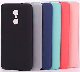 Матовый чехол Xiaomi Redmi Note 4X (силиконовая накладка) (Сяоми Ксиаоми Редми Ноут Ноте 4Х 4 Икс)