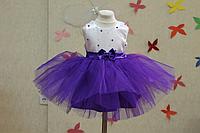 """Нарядное платье на девочку """"Гламурная бусинка"""" - фиолетовая"""