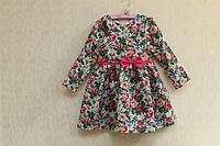 """Повседневно - нарядное платье с длинным рукавом """"Малиновая голубизна"""""""