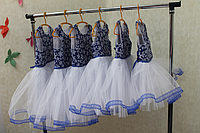 """Нарядное платье на девочку """"Синяя снежинка"""""""