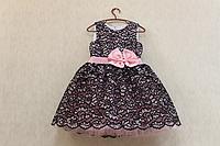 """Нарядное платье на девочку """" Гипюровое настроение"""" - розовое"""