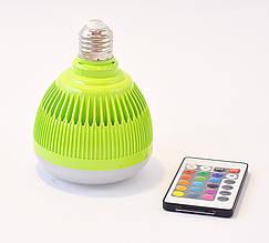 Колонка - LED лампочка 6W (Party Ball + пульт д/у) WS-L2 (цоколь Е27) green