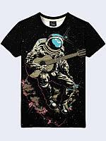 Футболка 3D Космонавт з гітарою