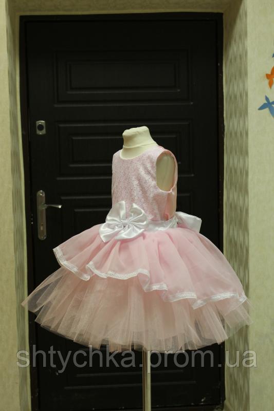 """Нарядное платье на девочку """"Мармеладка"""" в розовом цвете"""