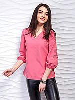 Легкая блуза с вышивкой на рукавах , фото 1